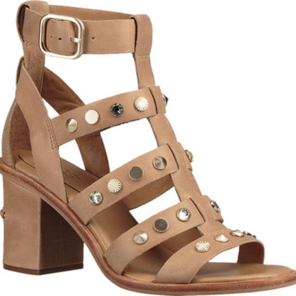 2edca1a8e79 UGG Macayla Studded Bling Block Heel Sandal 9.5 NWT
